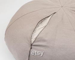 Large Wool Bean Bag Chair Washable Cover, All-natural, Chemical-free, Oeko-Tex Certified Wool Filling ANY SIZE on request