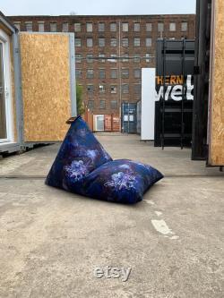 Luxury Printed Velvet Bean Bag
