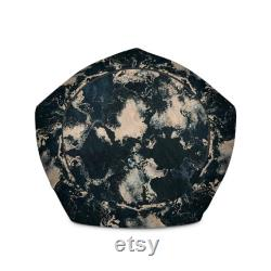 Marble Black and White Bean Bag Chair Bean Bag Cover-Indoor Outdoor Bean Bag-Cozy High Vibes Design-Interior Living Room Furniture