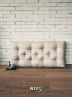 Mattress, Linen floor cushion, Quilted Mattress, Cushion, Matelas de sol, Window Seat, Headboard, Flax quilted mattress