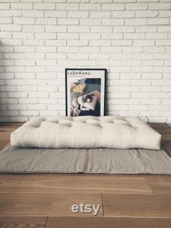 Mattress individual order Linen Cotton light beige