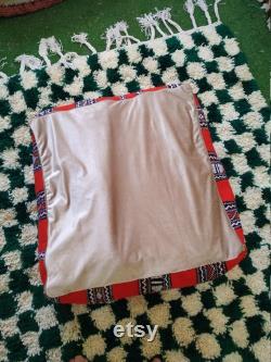 Moroccan pouf, vintage moroccan Modern ottoman pouf, beni ourian, kelim pouf, wool floor pillow, stool, coffee table CEVER ONLY