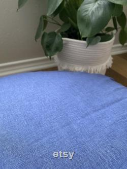 Navy Sketch Floor Pillow With Insert Free Shipping Made in the USA