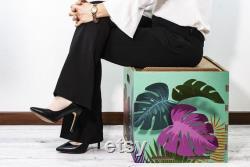 Ottoman seat in eco-design Poufpotai 40 Original, Eco-friendly, Extra-resistant top design