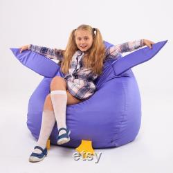 Owl Bean Bag Chair, Child bean bag chair plush soft comfortable stuffed Owl toy seat, Kids Bean Bag, Animal Themed Kids bags