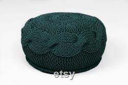 PLAIT floor pouf KID sized crochet pillow rustic crochet floor pillow meditation cushion