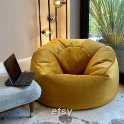 Plush velvet Beanbag Chair, Luxury Bean Bags in Plush velvet, Velvet Lounger beanbags