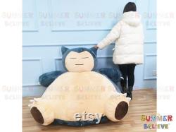 Pokemon Snorlax bean bag chair cover -(COVER ONLY) Snorlax giant Sleeping bed -Bear bean bag cover -Snorlax Plush chair-Large anime plush