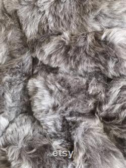 Pouf a pear bag armchair in real grey lamb skin sheepskin Bean bag chair grey shorn- Pouf en peau de mouton Lammfell Sitzsack