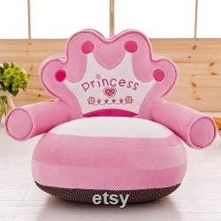 Pouf armchair crown Princess decoration of a child's room gift