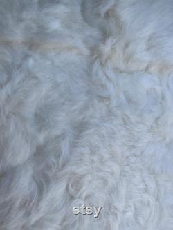 Pouf armchair with real lambskin bag sheepskin Bean bag chair Pouf en peau de mouton Lammfell Sitzsack White