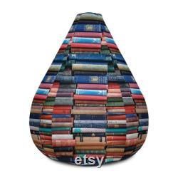 Reading Book bean bag. Pouf Bean Bag Chair Cover. Meditation cushion. Home Decor. Floor Sitting. Room Decor