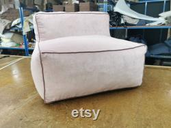 Stylish Bean bag chair in soft tone stain resistant Fabrics. Can be joined together to create a sofa look