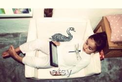 Swan kid's mini flip sofa