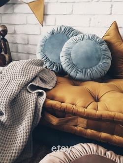 Velour mattress individual order gold, ochre
