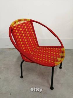 Vintage pop pop children's shell chair in the 70s