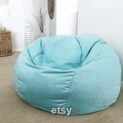 White Bean Bag Faux Suede Designer Bean Bag Cover Only. Bean Bag, Tiff Blue, White, Tan Bean Bag Cover, Navy Bean Bag, Pink, Bean Bag Cover