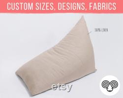 Wool Bean Bag Chair Washable Cover Oeko-Tex Certified Wool Filling Custom sizes on request