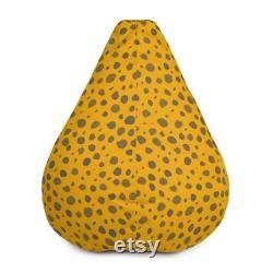 Yellow Giraffe bean bag. Pouf Bean Bag Chair Cover. Meditation cushion. Home Decor. Floor Sitting. Room Decor