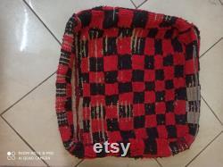 hand made ' pouf marocain ' berber pouf a carreaux '' been bag pouf '' moroccan berber pouf '' amazigh berber pouf '' pouf cover