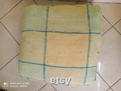 hand made '' pouf marocain '' berber pouf '' moroccan berber pouf '' pouf cover '' been bag pouf '' amazigh berber pouf .