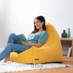 icon Oslo Bean Bag Lounger, Woven Living Room Beanbags for Adults
