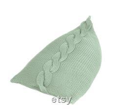 knitted BEAN BAG PLAIT floor cushion original bean bag
