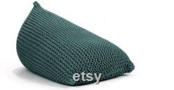 knitted BEAN BAG floor cushion