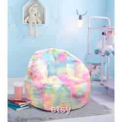 rainbow bean bag chair