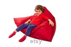 shiny red beanbag floor cushion cushion for kids NEW 100cm x 100cm armchair comfortable relax cushion for kids room great gift